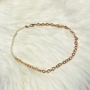 Charlotte Russe Gold Chain Choker Necklace